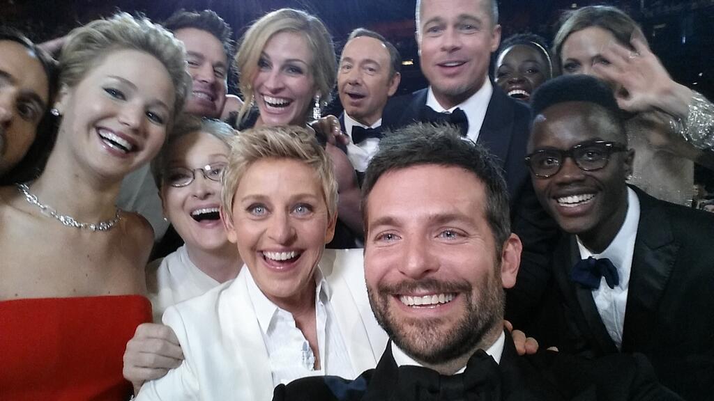 Ellen DeGeneres Oscars Selfie is The Most Retweeted Selfie Ever