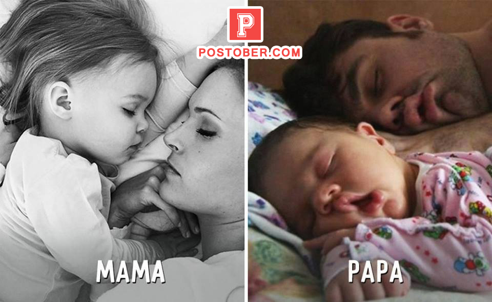 Best Mama vs Papa moments while taking care of their kids