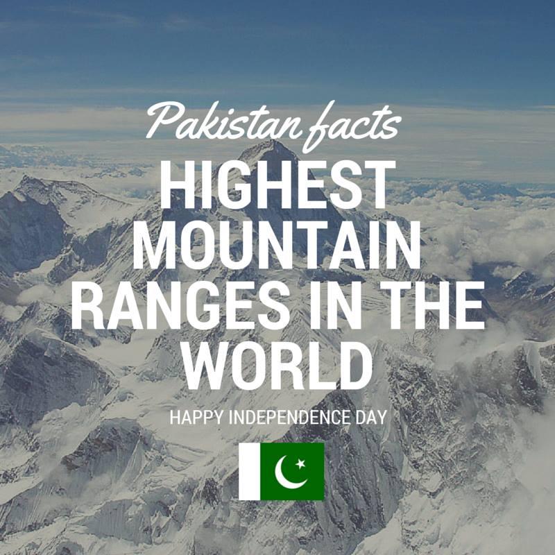 Pakistan Facts: World's highest mountain range is in Gilgit-Baltistan, Pakistan. K2 is the 2nd highest peak in the world.
