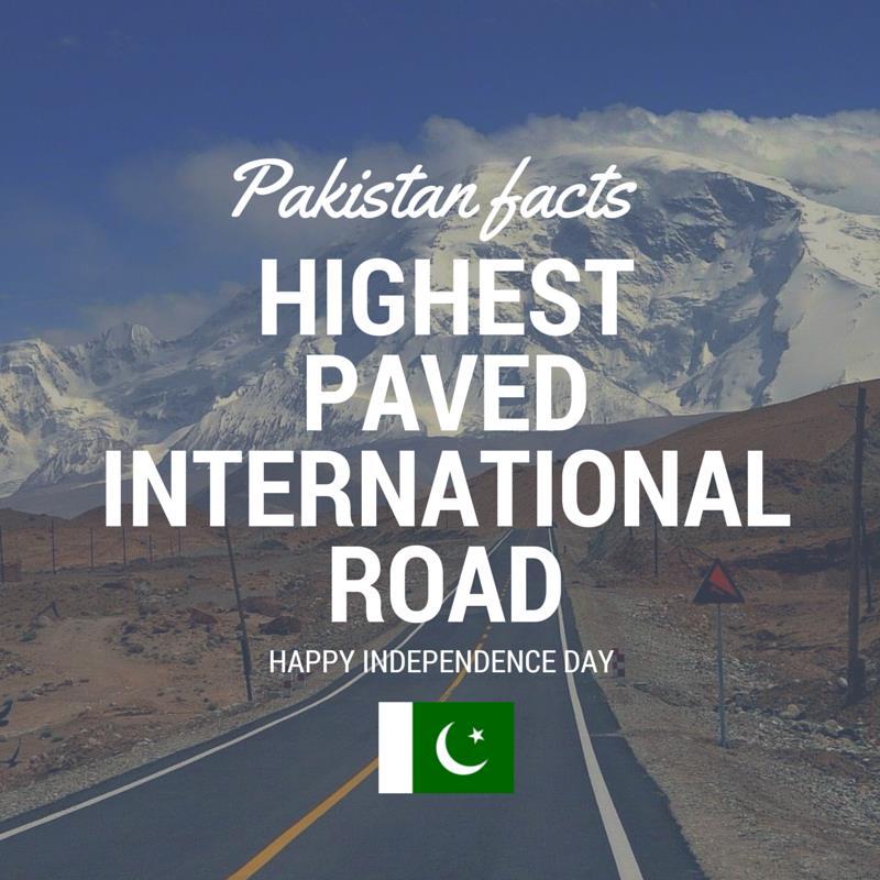 Pakistan Facts: Karakoram Highway - KKH is world's highest paved road.