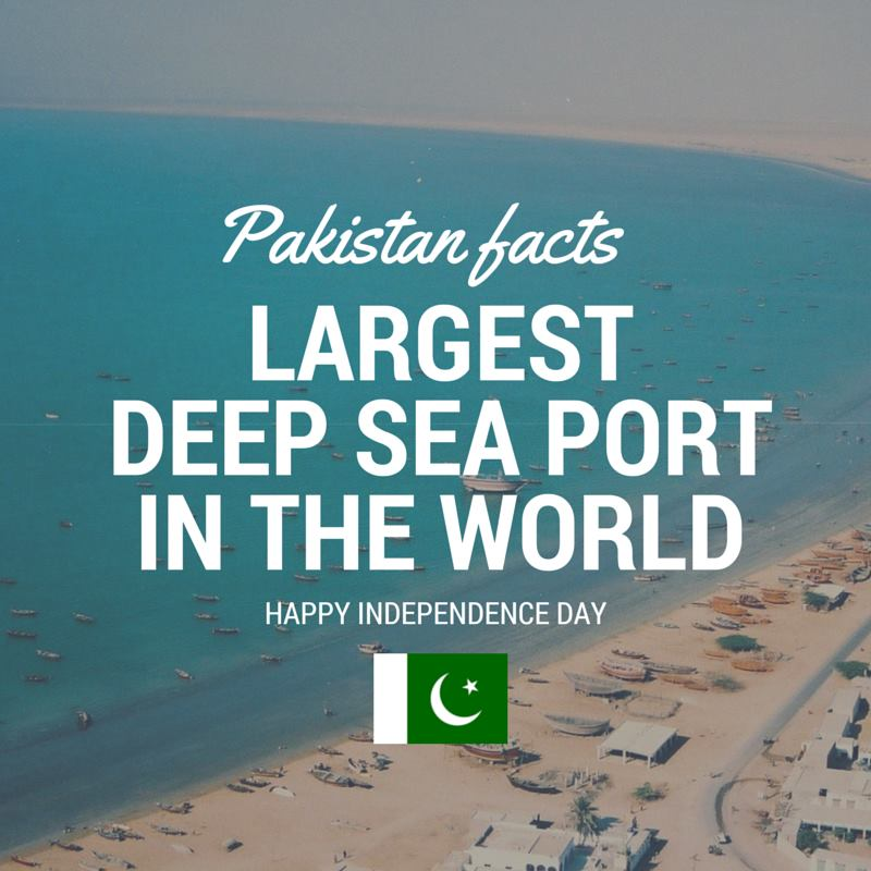Pakistan Facts: World's deepest sea port is in Gawadar, Pakistan.
