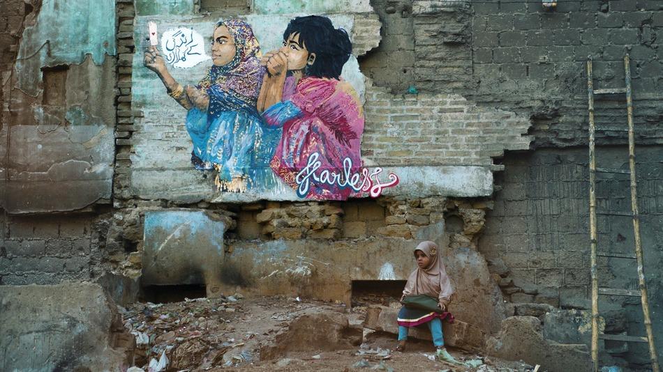 Indian artist visited Pakistan to make street art