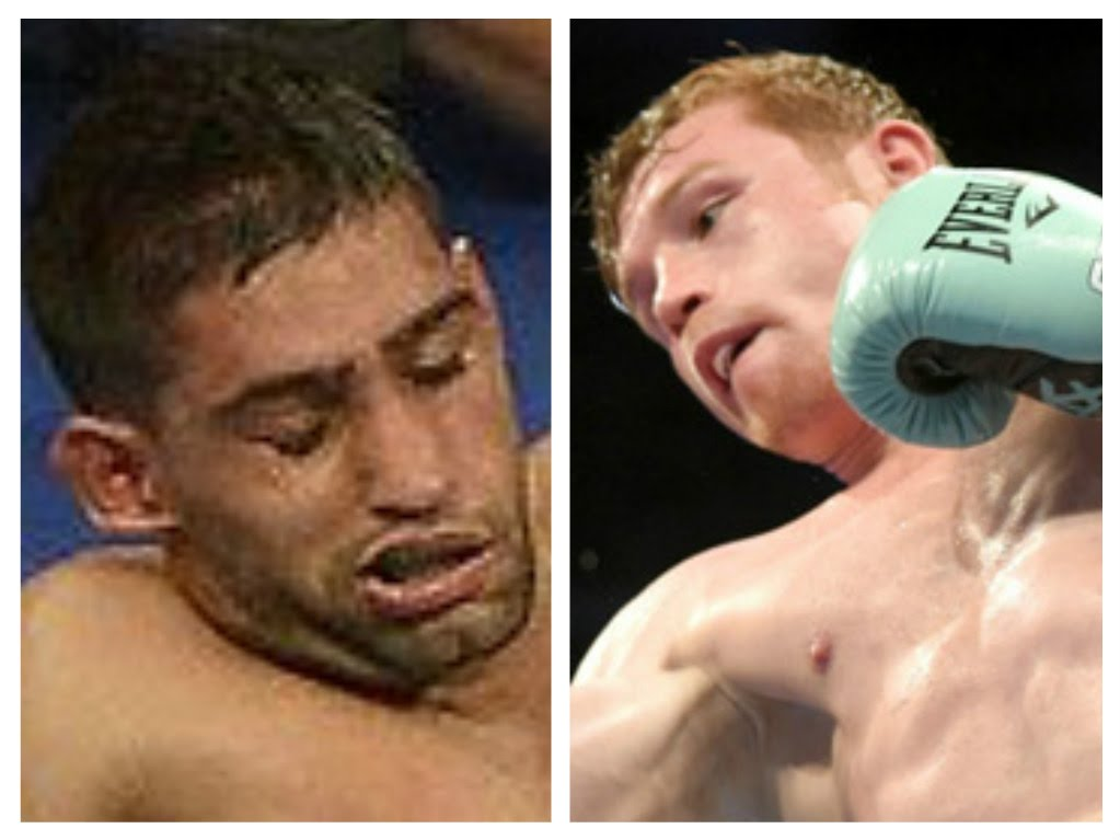 Amir Khan is knocked out by Canelo Alvarez