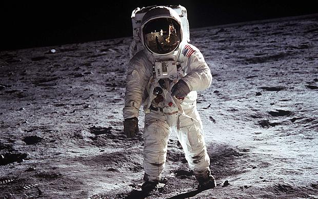 Man's first landing on moon