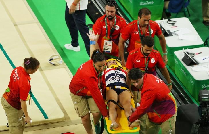 Samir being taken to hospital